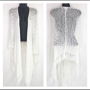 Coldwater Creek white knit shawl